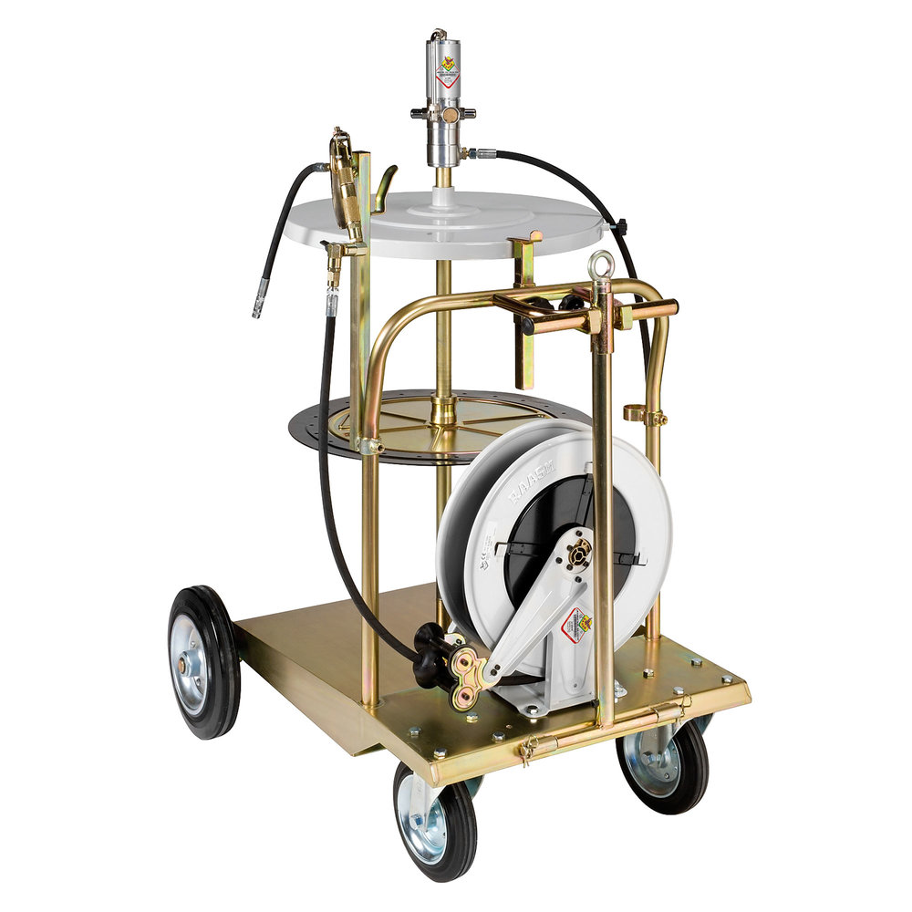 64000 - Portable, Air Operated Heavy Duty Grease Pump Trolley Kit for 180kg Drums