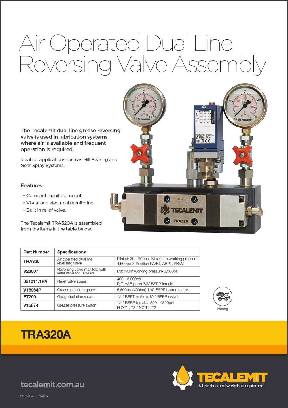TRA320A Product Info