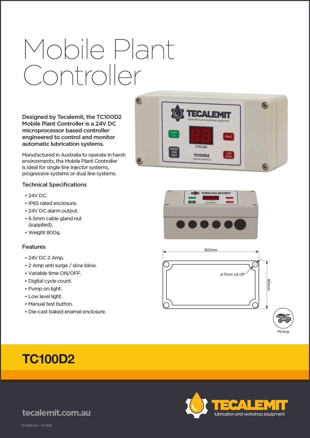 TC100D2 Product Info