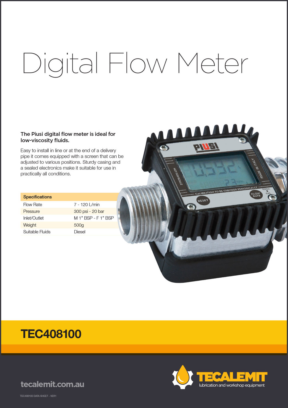 TEC408100 Product Info