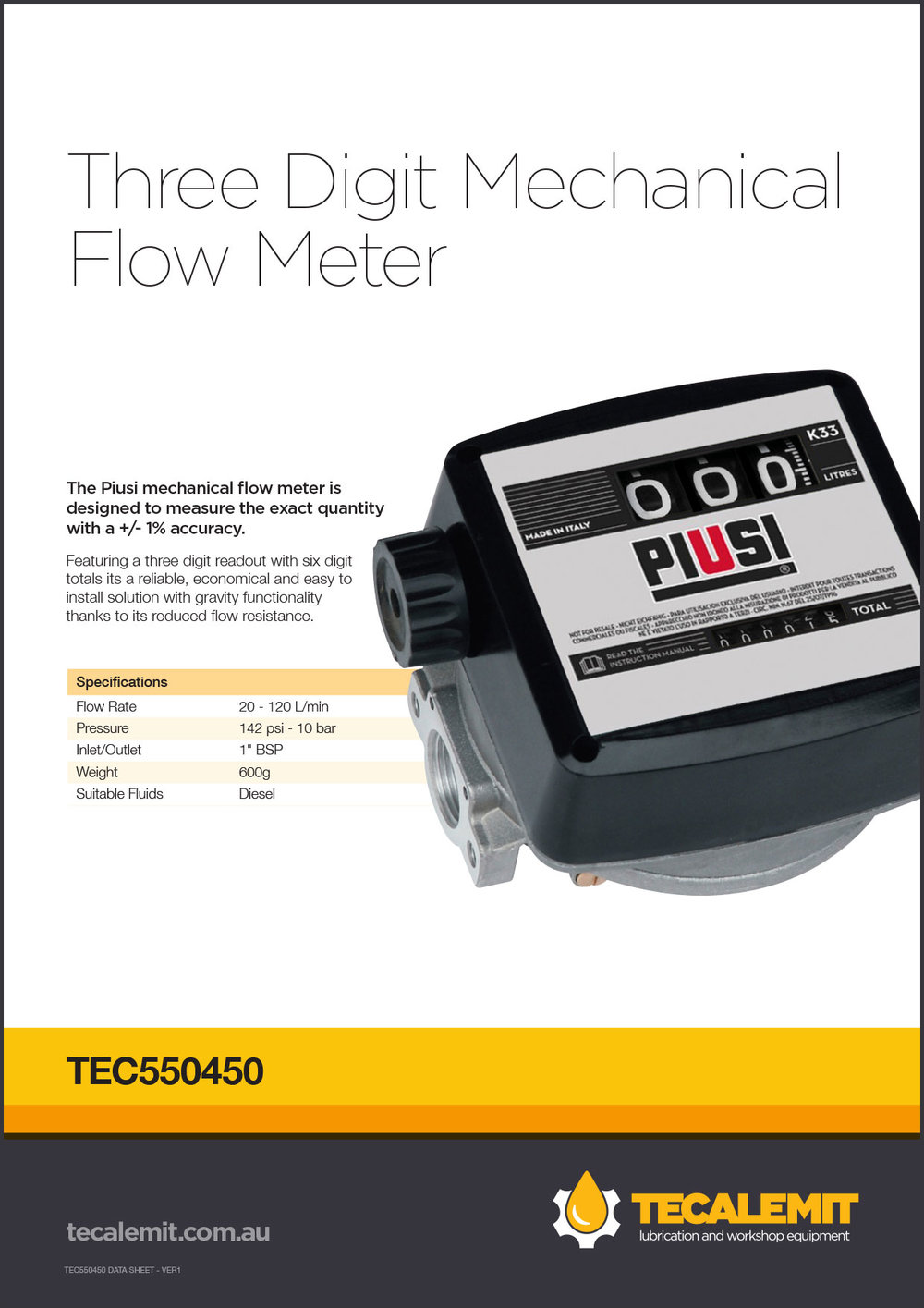 TEC550450 Product Info