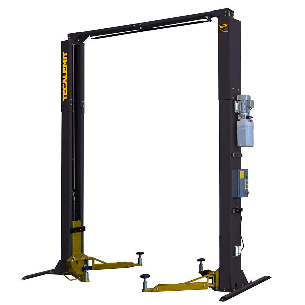 TECB242C - 4.2 Tonne 2 Post Clear Floor Hoist