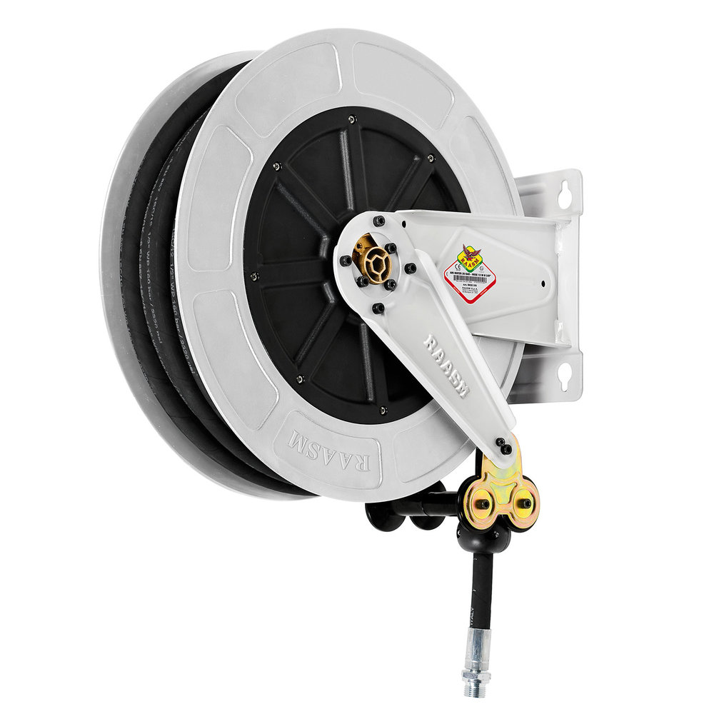 """8430.501 - 420 Series, 12m x 1/4"""" Open Grease Hose Reel"""