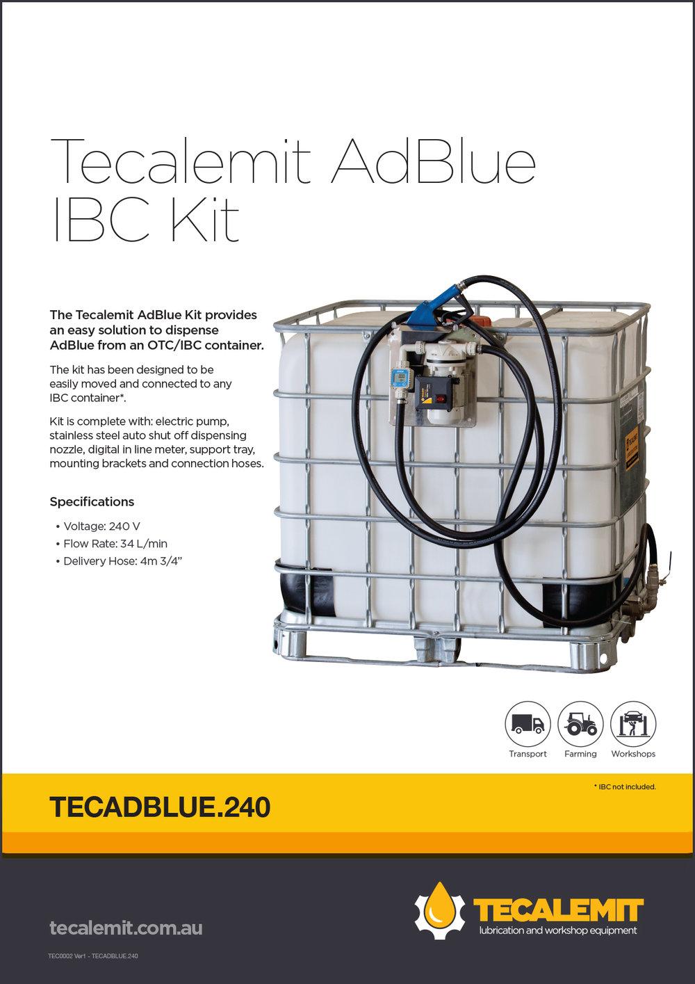 TECADBLUE.240 Product Info