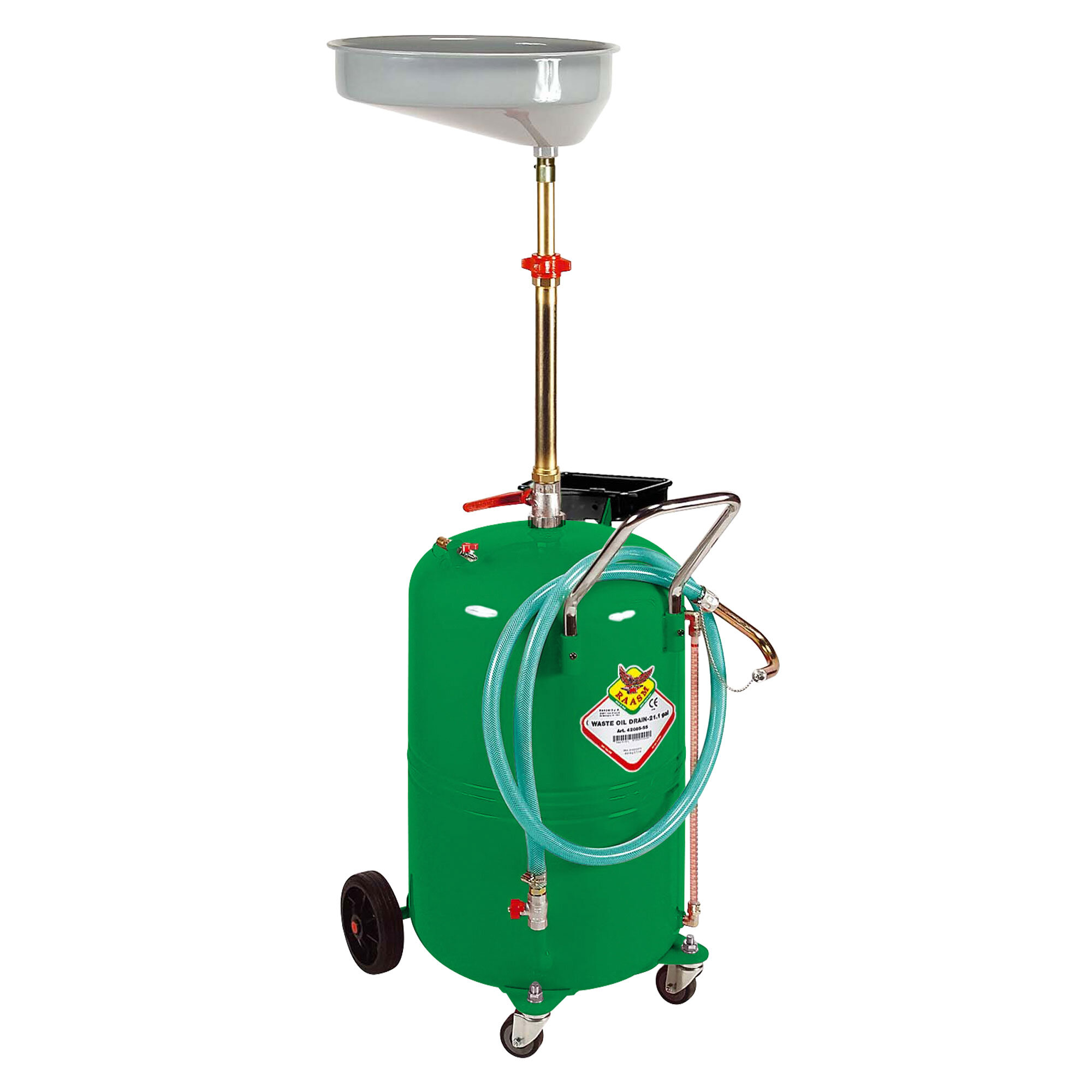 42085 - 80L Mobile Waste Oil Drainer — TECALEMIT