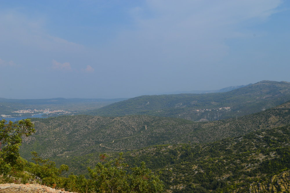 Overlooking the hills of Hvar, Stari Grad to the left in the distance.