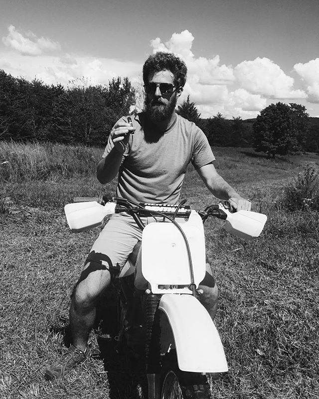 Hope your #labordayweekend was as freewheeling as this guy's. @bentleyrh . . . . . . #getoutside #optoutside #cha #sundayfunday #greaterCHA #dirtbike #cigars