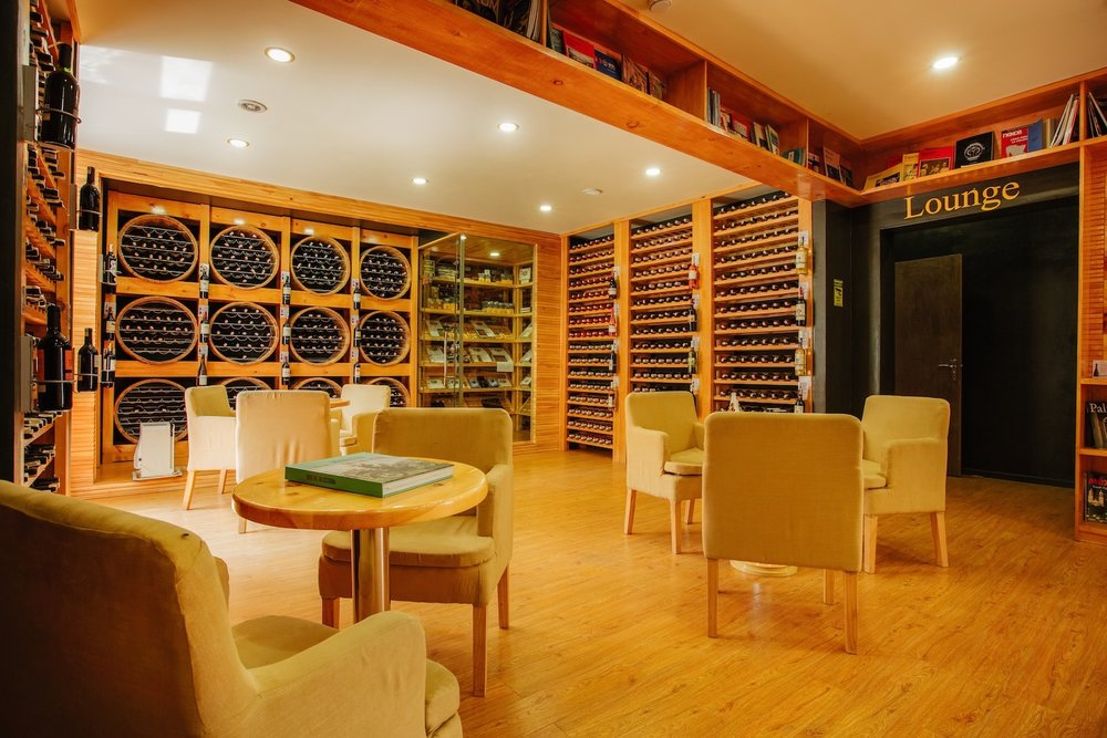 Wine Room - Seating: 9 - 25-30 for standing events