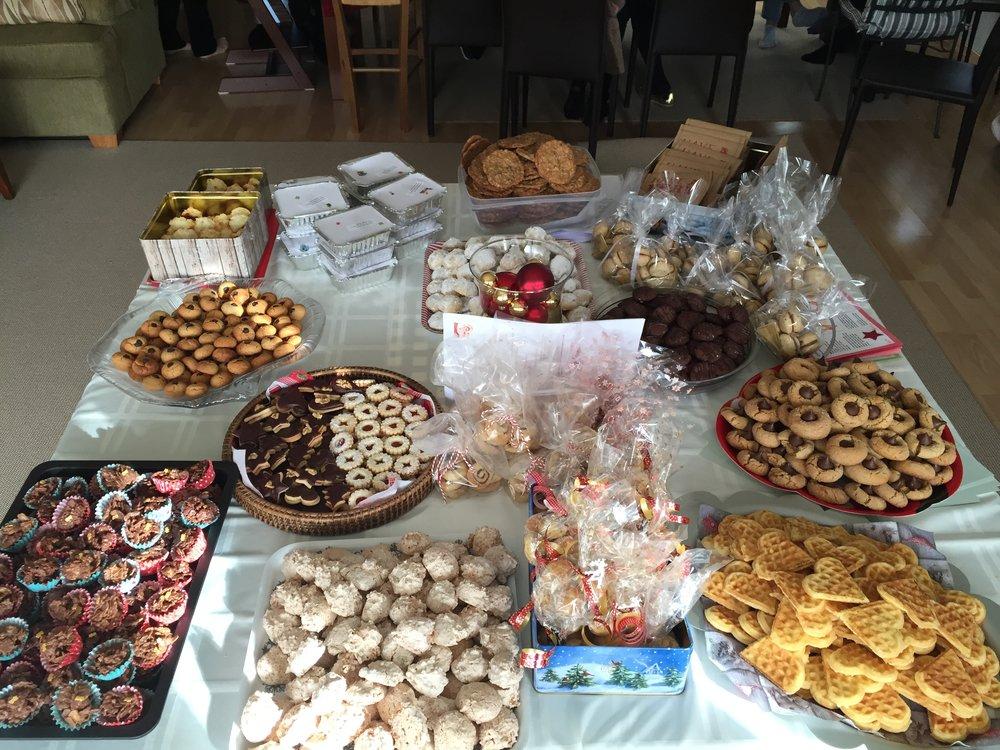 Christmas in Switzerland - cookie exchange