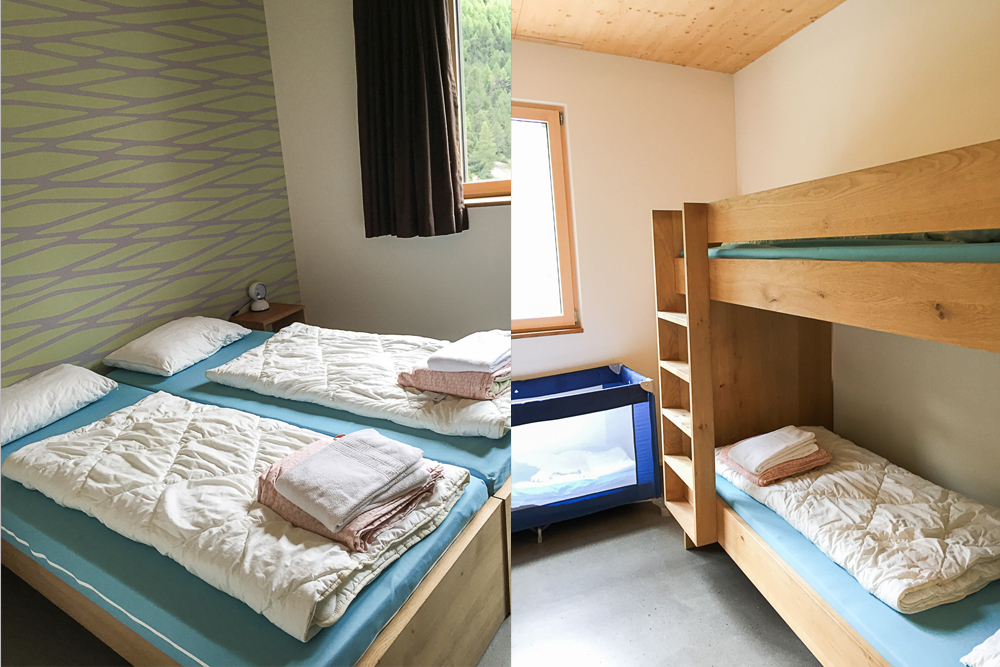 Our 4 bed Room at the WellnessHostel 4000 in Saas Fee