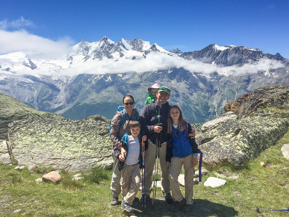 Saas Fee, a great Family friendly hiking region.
