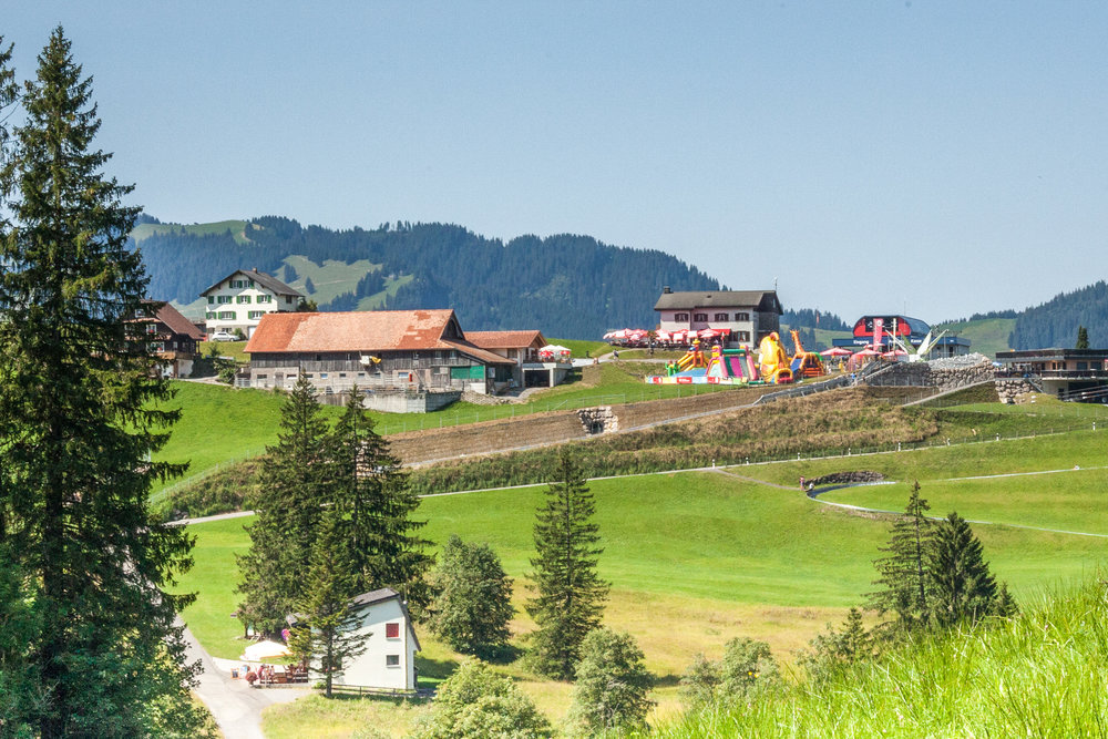 Hoch Stuckli is the place to visit for great hiking, skiing and kid fun.