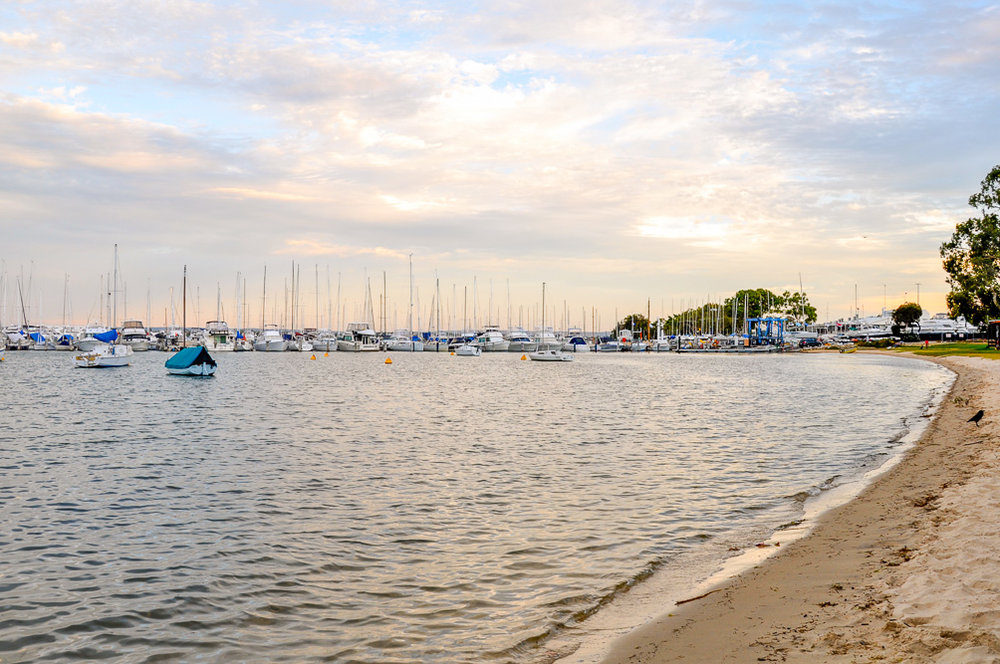 Enjoy sunset at Matilda Bay. Photo credit: Angela