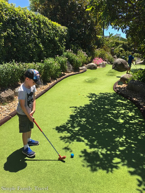 Victoria Park Putt Putt is a great place to practise your golf skills for young and old.