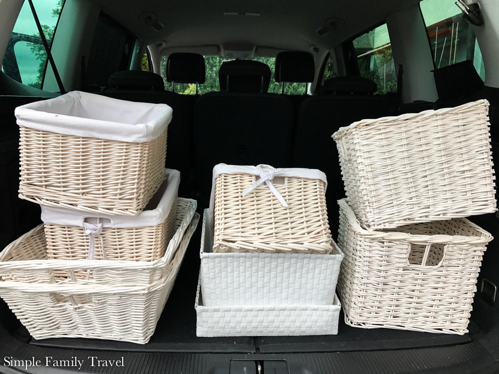 Cleaning out my cellar I found so many empty baskets and containers. These ones went to a new home,  Shop at home first!