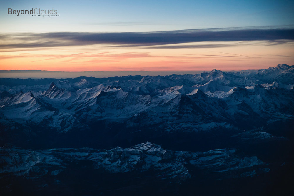 A beautiful early morning takes us along the Swiss alps. Can you name the mountains we are seeing to our left?
