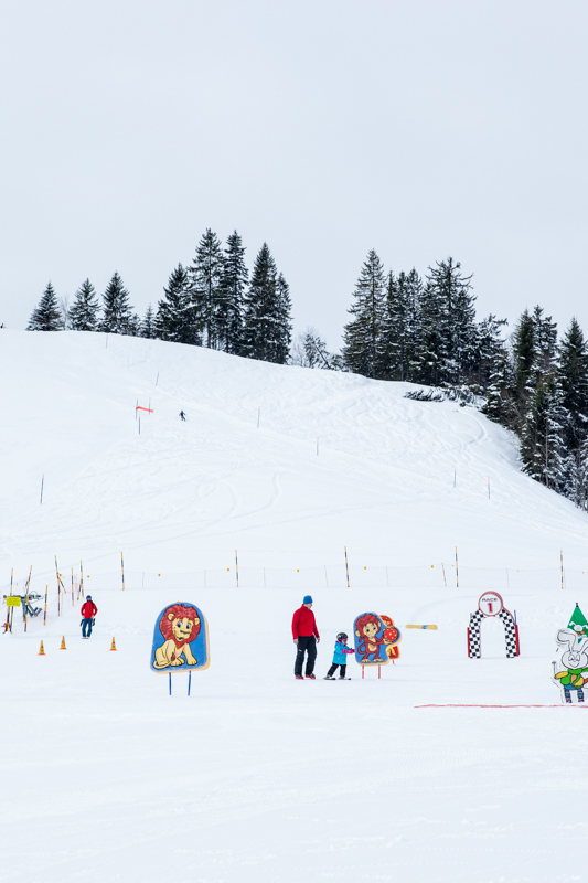 The Kinderland at Hochstuckli is a great place for young kids to learn to ski.