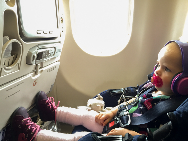 Car Seats on long haul flights mean my hands a free and my kiddo is happy and safe.