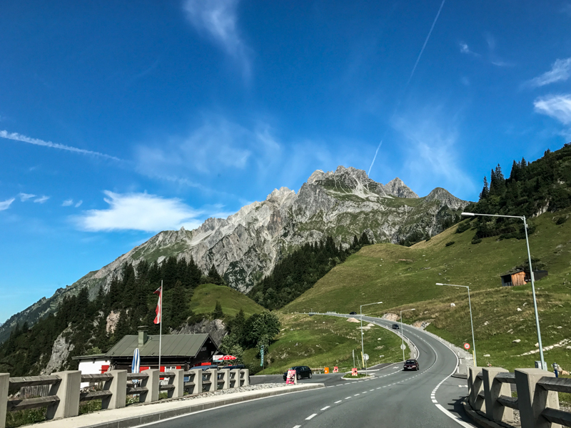 The drive back over the Arlberg pass road