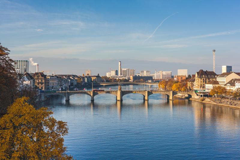 View from Münsterplatz over the Rhein in Basel