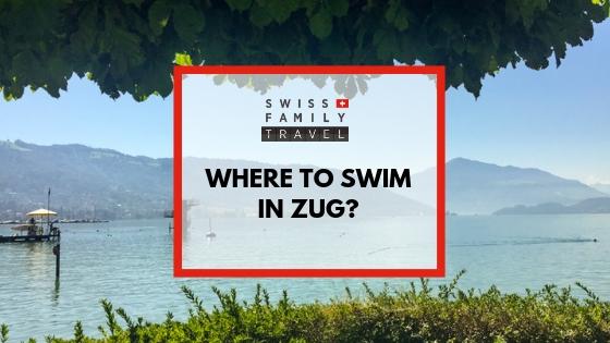 Where to swim in lake Zug