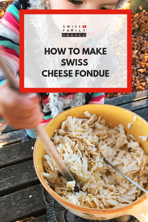An authentic recipe for Swiss cheese Fondue