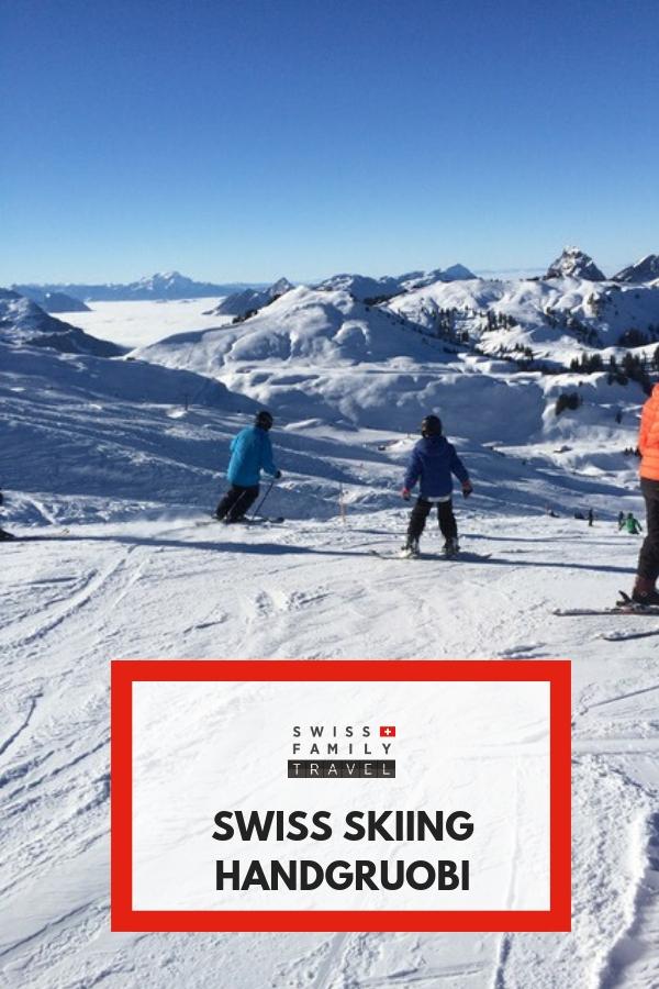 Try Handgruobi for family friendly skiing near Zurich and Zug in Switzerland
