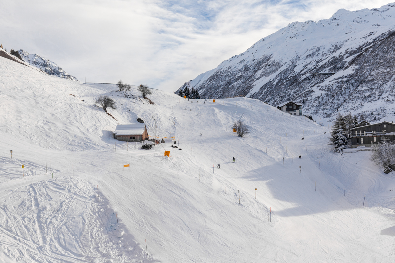 The Nätschen ski area of Andermatt, Switzerland is a great place for families