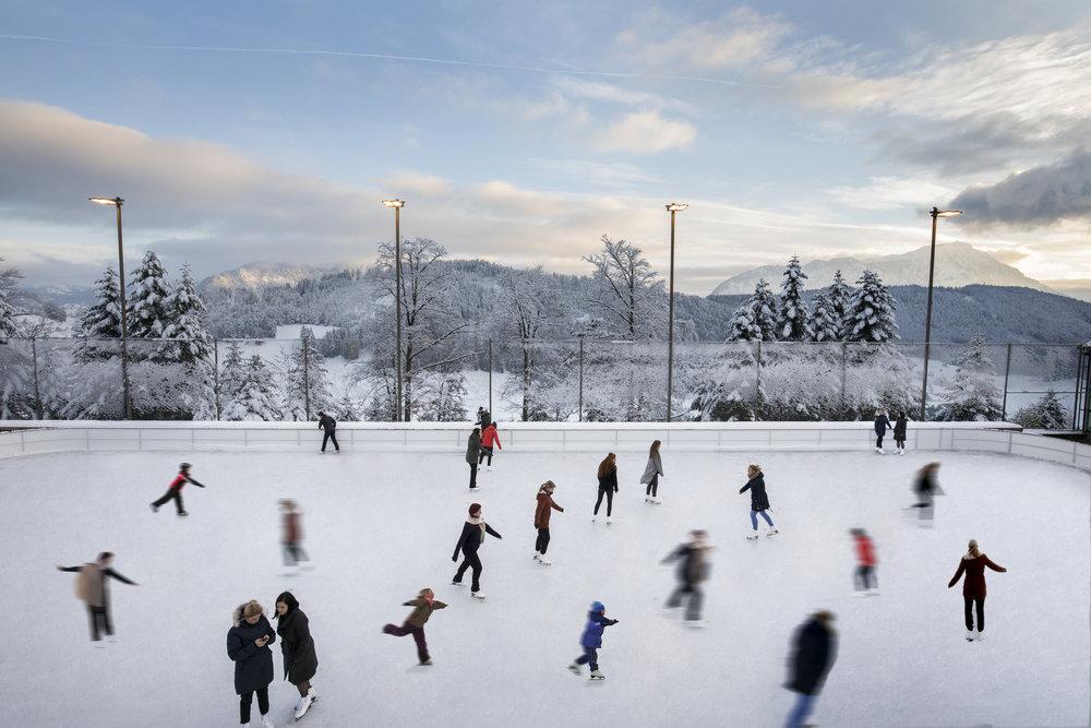 Ice Skating at the Bürgenstock