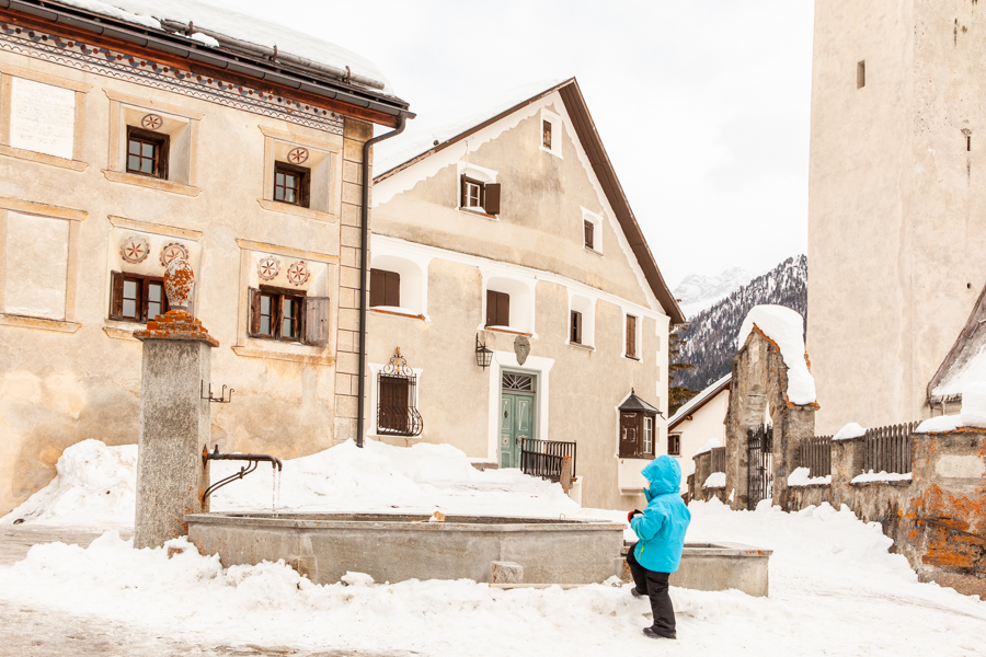 A winter guide to Scuol: visiting Guarda the home of Schallen Ursli