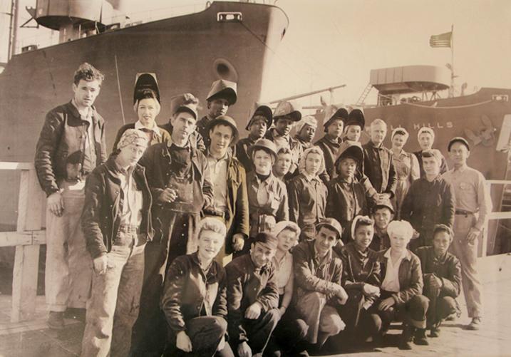 Welding WWII Ships