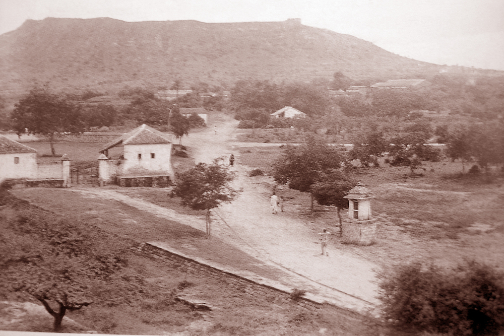 Life beneath the Bhujia hill in the late 1800s.