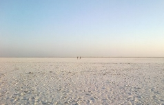 Walking out on the Great Rann from Dhordo.