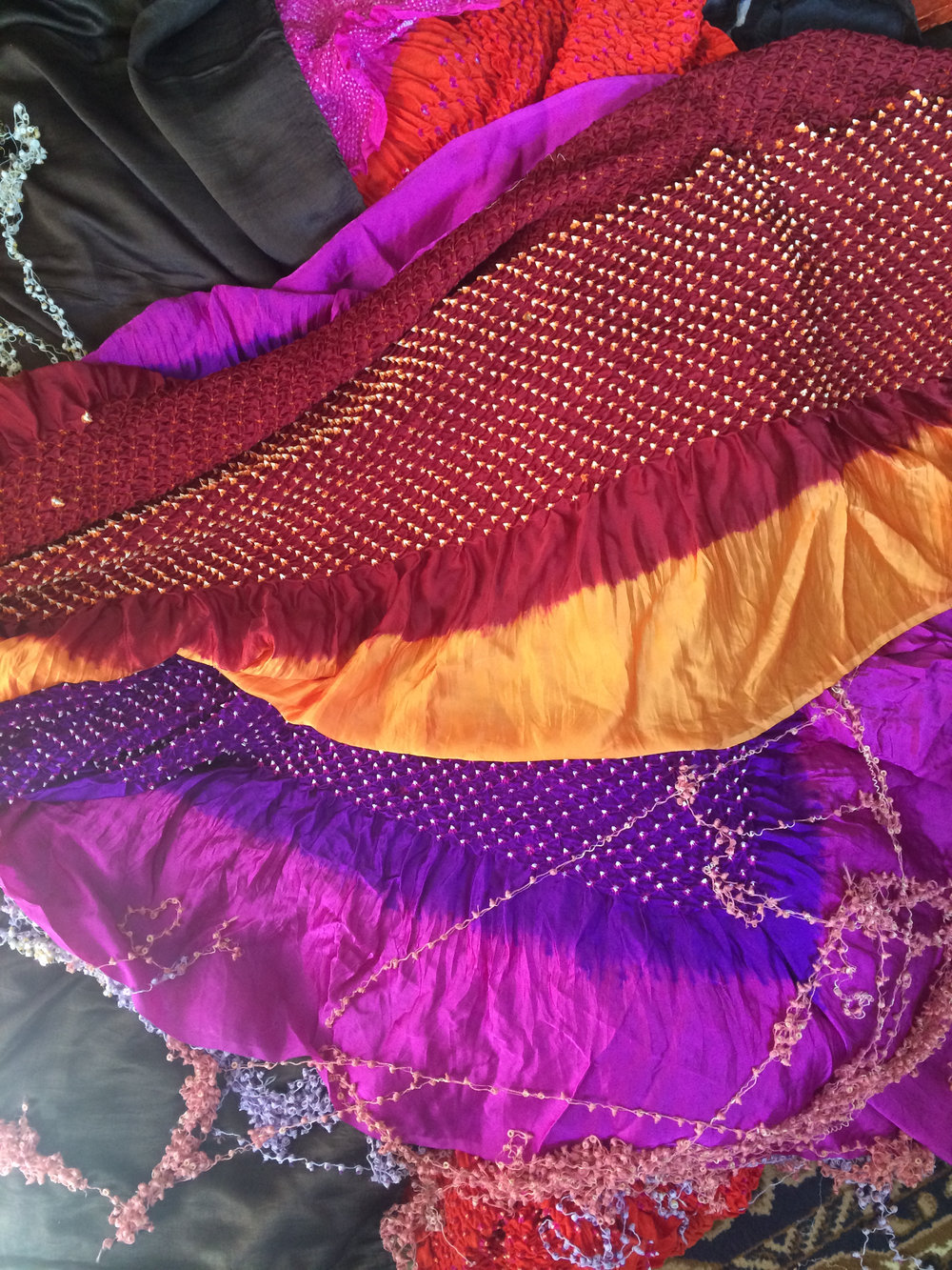 Scarves, stoles, dupattas and sarees.