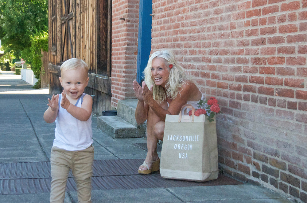 Ev and I lovin' our Market Bag!