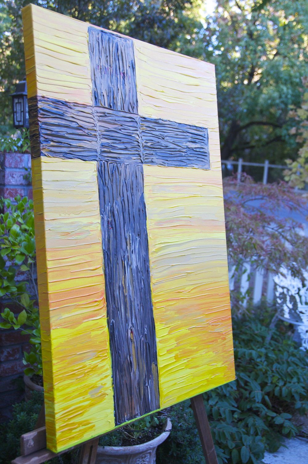 "The Cross on Easter Morning  -""shop"" painting"