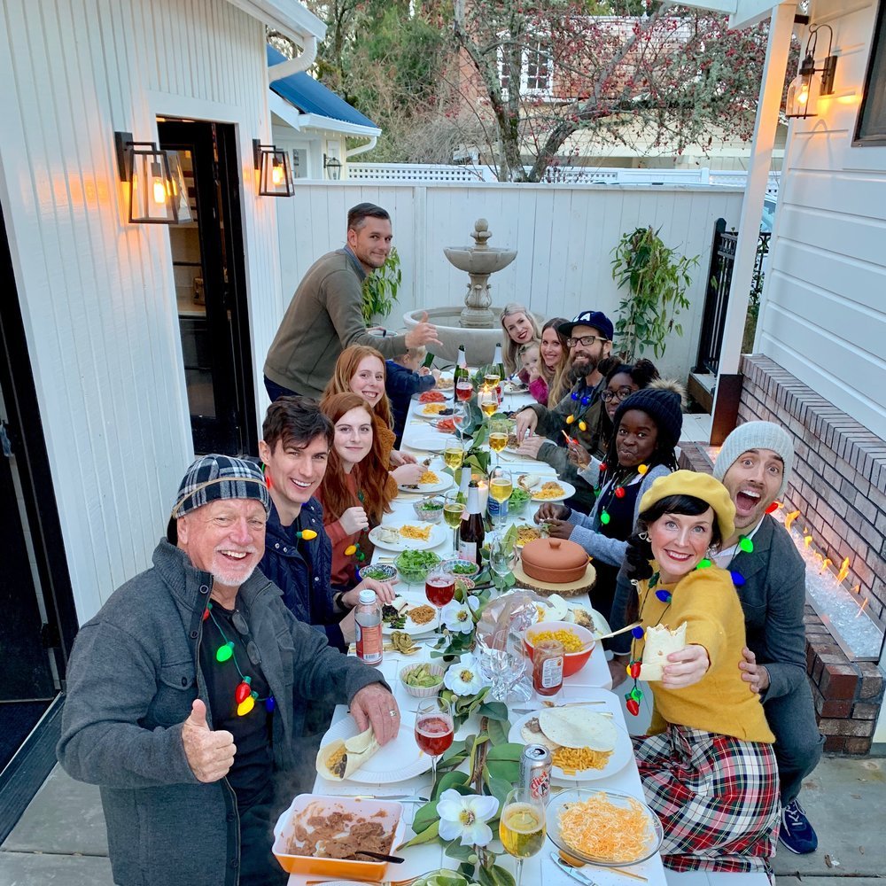 Christmas Dinner Taco's 2019 in my back yard with all of us together…