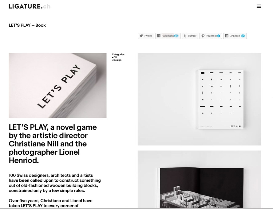 THANK YOU LIGATURE.CH http://ligature.ch/2016/11/lets-play-book/
