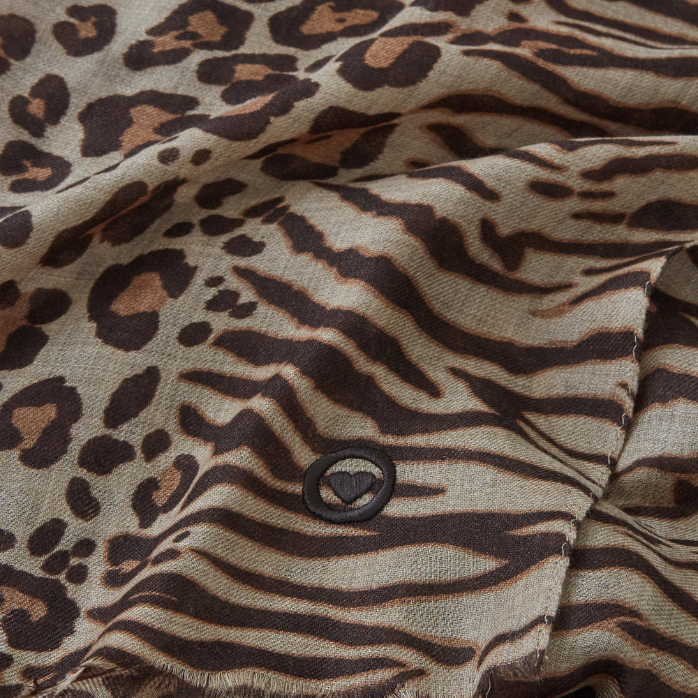 Animal Print - This is the forever shawl you've been looking for. The rich and elegant leopard print is inspired by the chic Mya, my friend's stunning Bengal Kitten...