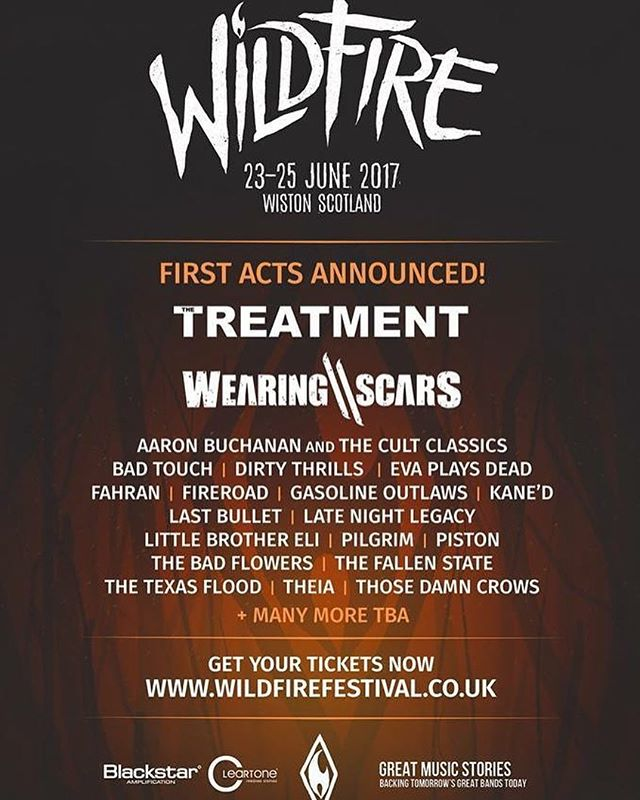 We've been announced for @wildfirefestival  next summer alongside @thetreatmentofficial and loads more! Looking forward to this! 🤘🏻
