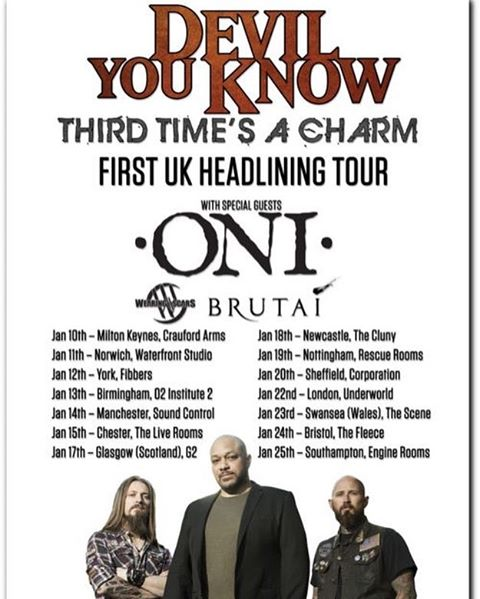 Not long at all til we head out on this tour with @devilyouknowofficial, @theoniband and @brutaiband!  What show are you coming to? 🤘🏻