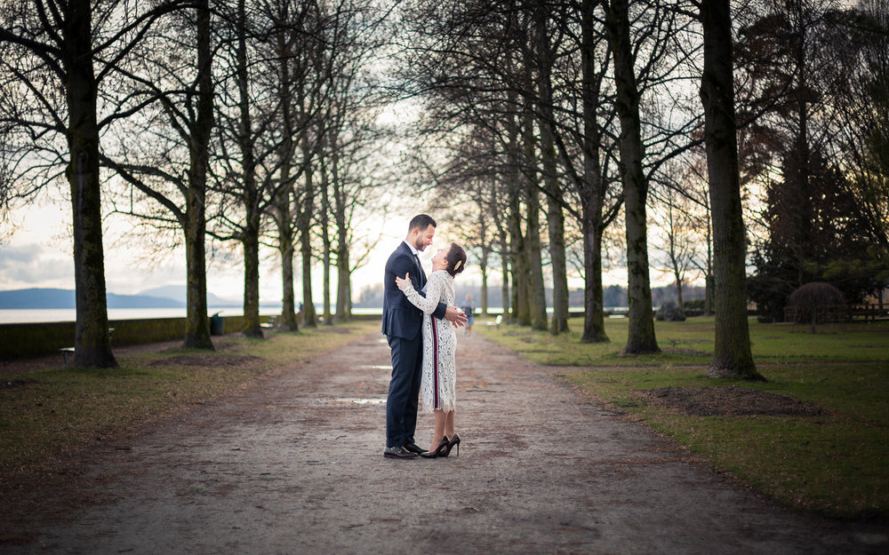 mariage B&Z morges couple sunset