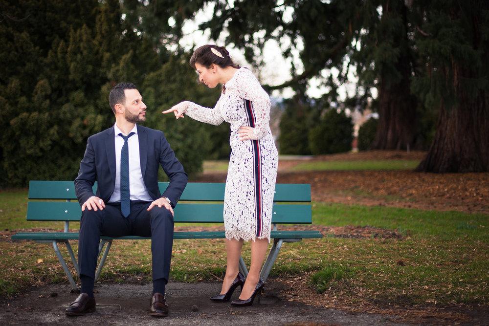 mariage couple wedding banc naturel
