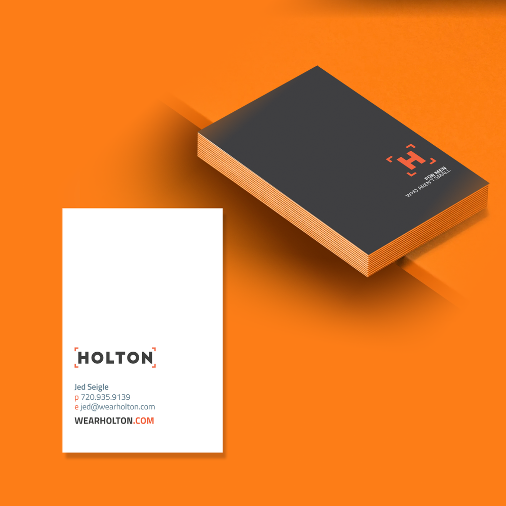 Holton (Big & Tall Men's lifestyle) Business Card