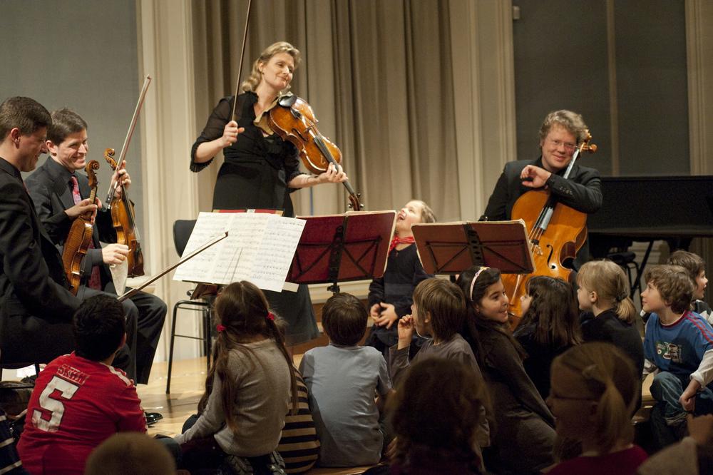 Performing for children at the Bayerische Akademie der Schönen Künste