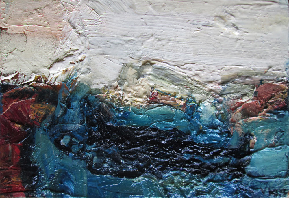 Title: Marine Size: 26 x 33 cm Medium: Oil on wood panel  SOLD