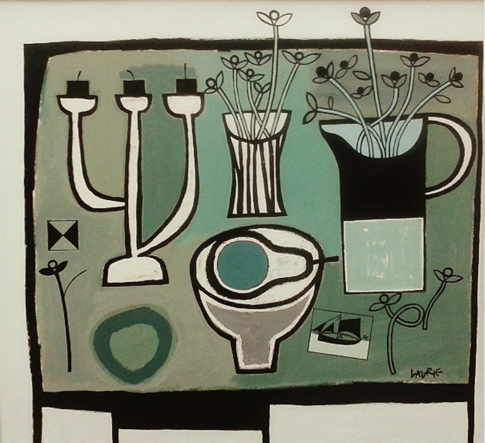 Title: Grey Table Size: 81 x 86 cm Medium: Acrylic on canvas Price: £4500 * Please contact the gallery for availability