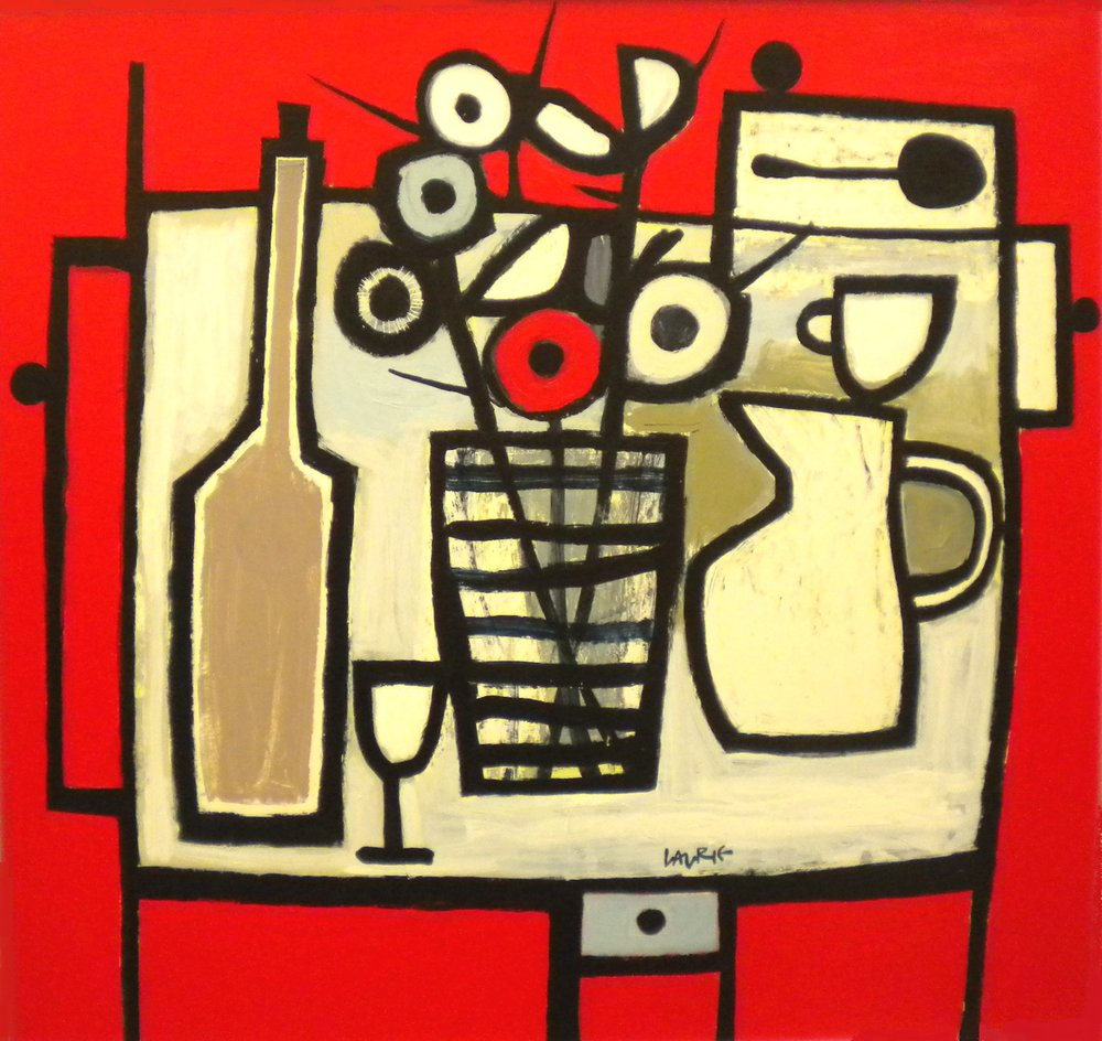 Title: Studio Still Life Size: 81 x 86 cm Medium: Acrylic on canvas