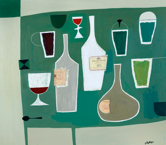 Title: Fine Wines Size: 81 x 86 cm Medium: Acrylic on canvas