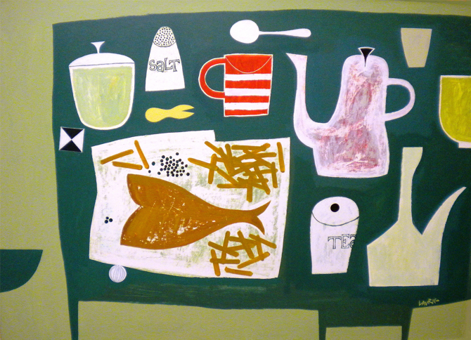 Title: Seaside Supper Size: 81 x 112 cm Medium: Acrylic on canvas